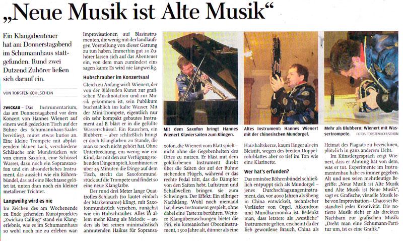... sie schon an das Gänseblümchen - Freie Presse Zwickau (29.09.2010
